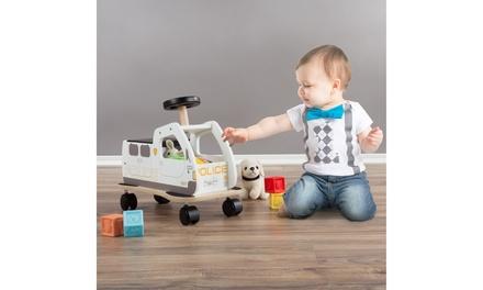 Baby Ride on Police Box Toy Storage Walk Behind Small Move Around Mini Car