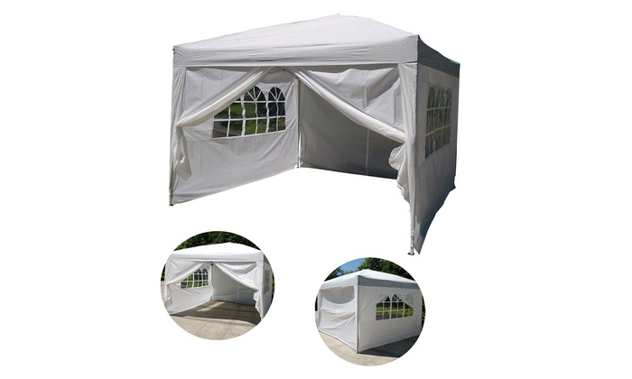10 X10 Easy Pop Up Wedding Sunshade Gazebo Canopy Party Tent