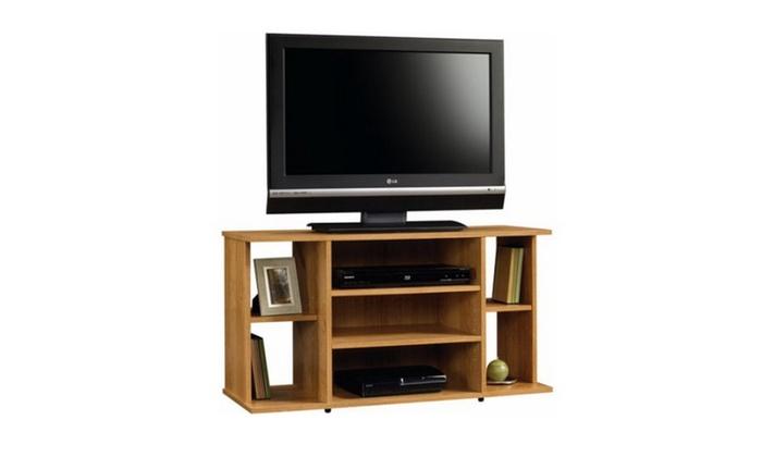 Sauder Beginnings Highland Oak Tv Stand For Tvs Up To 42 Groupon