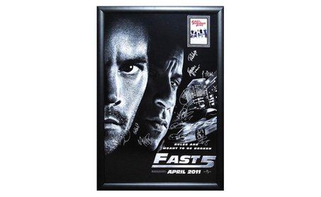 Fast and Furious 5 - Signed Movie Poster in Wood Frame with COA 204b6e5f-c3fa-4819-8c67-5b6f14feb0a5