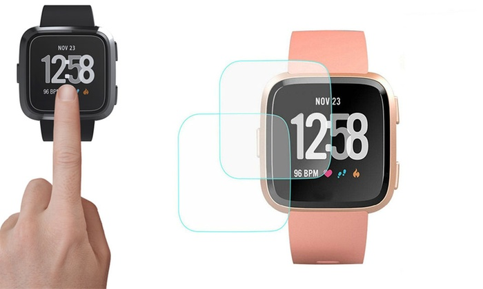 Up To 87% Off on Fitbit Versa Tempered Glass S    | Groupon