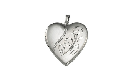 Sterling Silver Engraved Heart Locket 6a5b6a6d-c3f7-4400-8f0b-f045da4c1c2d