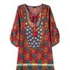 Women's Loose Casual Floral HiddenZipper Dress