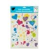 Kole Imports Iron-on Splatter Hearts Transfer - Pack Of 24