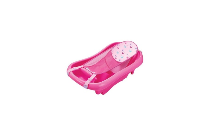 The First Years Infant To Toddler Pink Tub With Sling Baby Bath Tubs ...