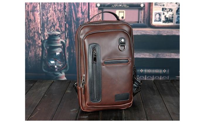 Men Crossbady Bag Shoulder Bag Casual Cowhide Sport Travel