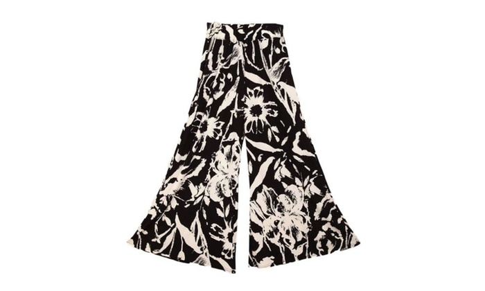 Women's Casual Printed Mid Rise Less Rear Coverage Pants