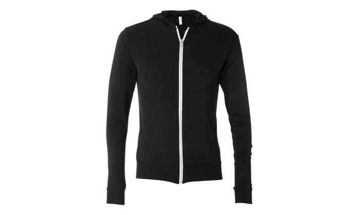 Canvas Triblend Unisex Lightweight Hooded Zip Shirt BL3939-1