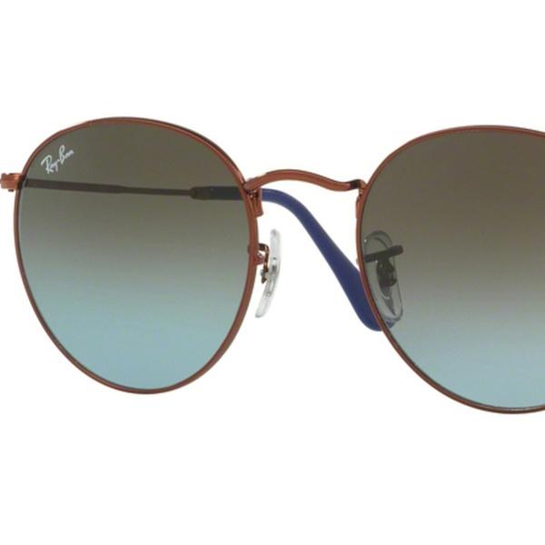 cb304e419df Ray-Ban Round Metal Bronze-Copper Sunglasses RB3447-900396-50