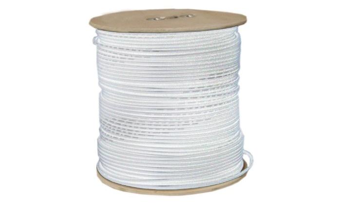 Plenum Rg59 Siamese Coaxial Solid Cmp 18/2 Solid Power Spool