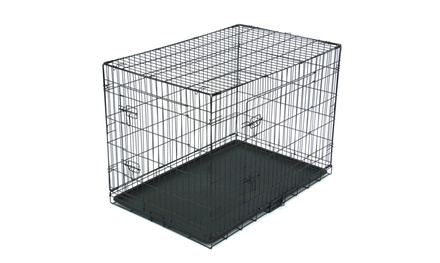 """24""""/30""""/36""""/42""""/48"""" Pet Kennel Dog Folding Steel Crate Animal Playpen Wire Metal Was: $68.99 Now: $24.99."""