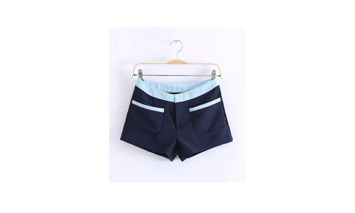 Women Casual Navy Blue Pants Shorts - JPWS519