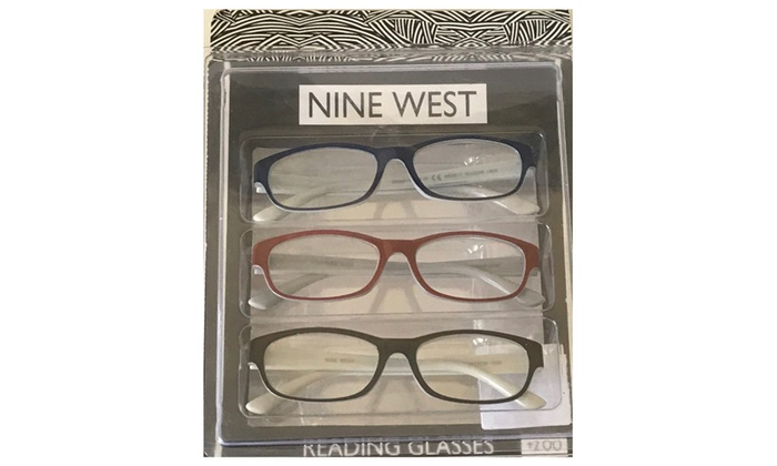 8edac77895 Nine West Designer Red Stylish Reading Glasses +2.00 Strength 3 Pack ...