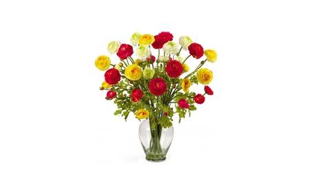 Ranunculus Liquid Illusion Silk Flower Arrangement 4ba17259-9439-4016-8f92-dc35e189f387