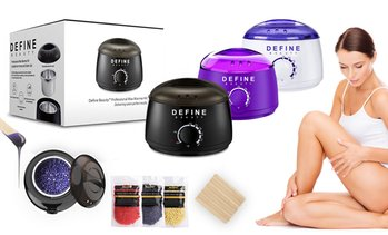 WWKIT - Define Beauty Wax Warmer Heater Kit with 3 Different Flavours