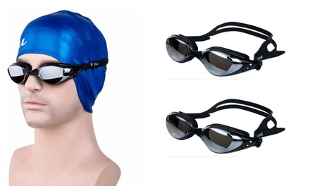 Pack Of 2 Anti-Fog Swimming Goggles With UV Protection For Complete Swimwear
