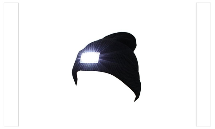 LED Knitted flash light Beanie for Men and Women
