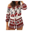 Women Sexy off Shoulder Floral Print Jumpsuit Short Romper Playsuit