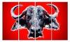 Angry Bull Animal Metal Wall Art 48x28 4 Panels