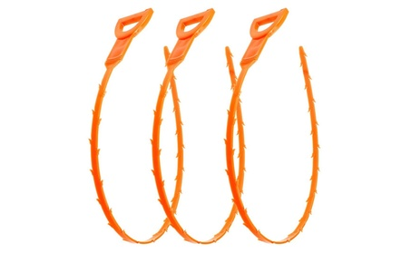 3 Pack 19.6 Inch Drain Snake Hair Drain Clog Remover Cleaning Tools 370219df-441c-416f-9335-fb7defb2488e