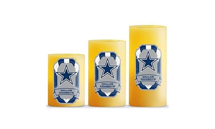 NFL Scented LED 3-Pack Candle Set