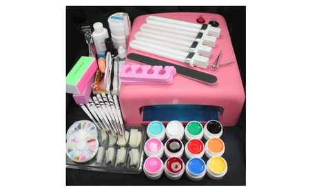 Pro Full 110V 36W Cure Lamp Dryer & 12 Color UV Gel Nail Art Kit Set 09f20e7a-6f01-45d7-bcad-3ba97bde8636
