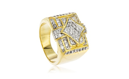 Men's Goldtone Iced Out Square & Diamond Shapes Finger Ring Sizes 7-12 a0a55fde-b91b-4b3b-b3e8-97d430aab15b