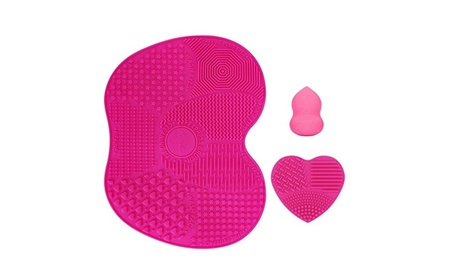 Silicone Makeup Brush Cleaning Mat, Makeup Brush Cleaner Portable 886caa2e-3051-4d4d-815c-476e4b0b7ff2