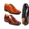 Metrocharm MC122 Men's Cap Toe Classic Formal Dress Shoes