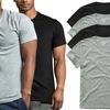 (4 Pack) Men's Cotton Short Sleeve Crew Neck Tees