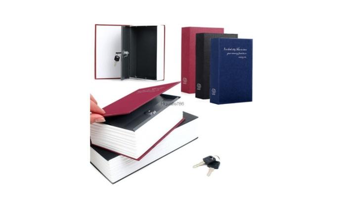 New 2017 Dictionary Secret Book Hidden Safe & Key Lock Book Safe