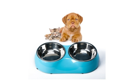 Pet Dog Bowl Food Water Dish Feeder Stainless Feeder Pet Dog Bowls afc58bc4-44da-4616-8229-cb08b6e0a704