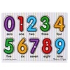 Children's  Alphanumeric Plate Wooden Puzzle Early Learning Toys