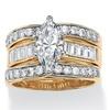 3.86 TCW CZ 3-Piece Bridal Set 14k Gold-Plated