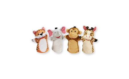 Melissa & Doug Zoo Friends Hand Puppets (Set of 4) - Elephant, Giraffe fa9b132e-9a33-430f-ae18-f6b90c62b497
