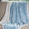 Lavish Home Plush Flower Fleece Sherpa Throw Blanket