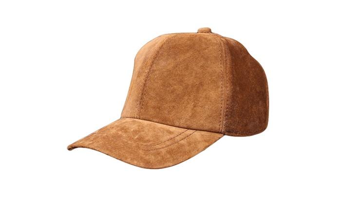 Shefetch Men's Stylish Autumn 1 Colors 1 Sizes Leather Baseball Caps