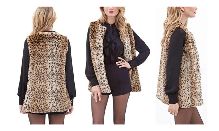 Jasmine Plus Size Leopard Print Vest