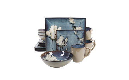 Gibson Bloomsbury 16 Piece Dinnerware Set, Blue photo