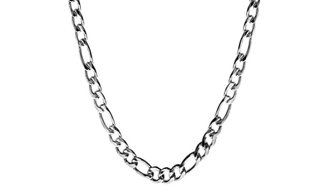 Stainless Steel Men's Figaro Chain Necklace b26970c1-9680-42a5-a828-a2c77a5e172d