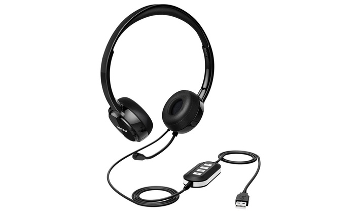 e0751c258b5 Mpow 071 USB Headset/3.5mm Computer Headset Microphone Noise Cancel