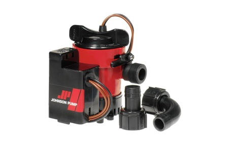 Johnson Pump 750GPH Auto Bilge Pump 3-4.in Hose Mag Switch 12V photo