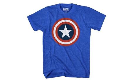 Marvel Captain America Men's 80's Captain America T-Shirt 51a6f461-171e-40a1-8bb8-85f7e228a7fb