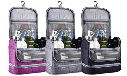 Waterproof Hanging Travel Toiletry Bag Makeup Organizer Kit for Men or Women