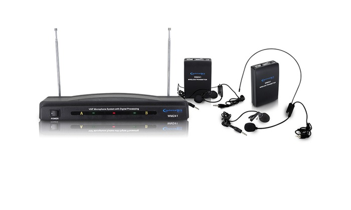 Dual signal VHF high band microphone system