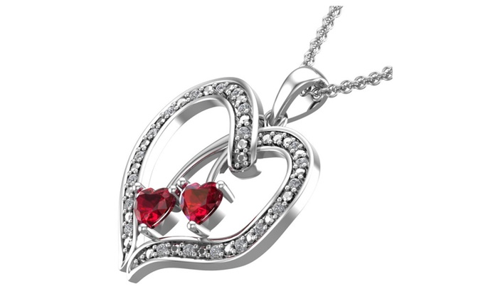 Belinda Jewelz: Created Ruby encrusted heart shaped pendant necklace for her