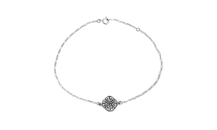 Bling Jewelry 925 Sterling Silver Celtic Knotwork Anklet Bracelet 10 Inch 77gSw