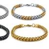 Mens Stainless Steel Franco Bracelets