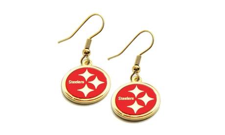 Pittsburgh Steelers Dangle Logo Earring Set Charm Gift Red 7fd1fc05-8a26-4590-baf0-6deb9a35aa8b