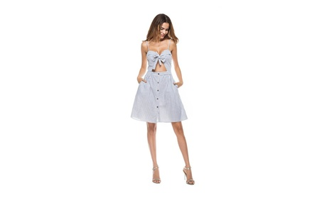 Women's Patterned Rib Sleeveless Side Slit Midi Dress 8b5537b3-5a1c-4f95-a928-c6b7d8502ab8